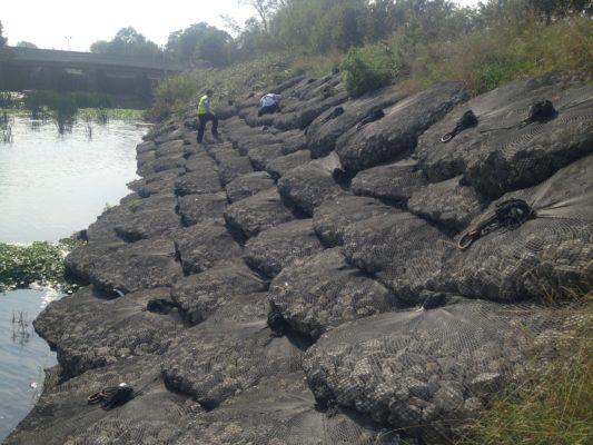 Riverbank protection deployment