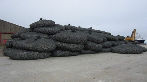 Rockbags ready for use